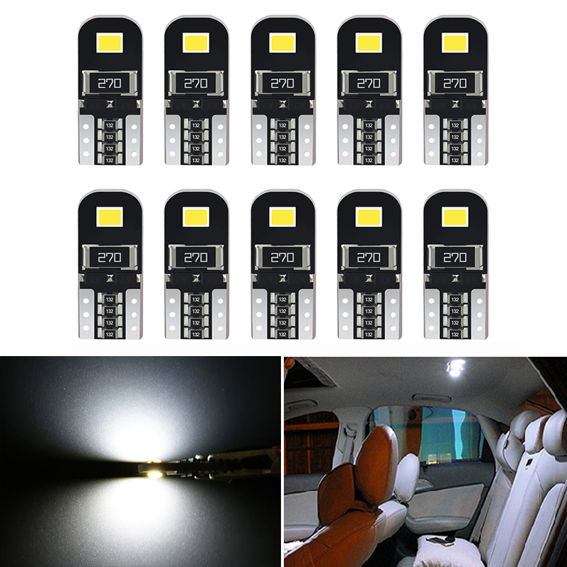 10Pcs W5W T10 LED Canbus Bulbs 168 194 LED Car Interior Light For VW Golf 4 5 6 7 GTI Passat B5 B6 B7 <font><b>CC</b></font> Beetle Polo Jetta MK6 image
