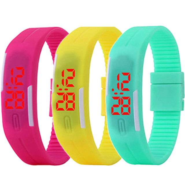 2019 New Famous Brand Jelly LED Digital Watch Women Silicone Bracelet Watches Re
