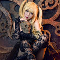 Death Note Misa Amane Cosplay Wig Long Light Gold Straight Halloween Christmas Party Wigs