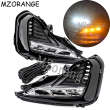 MZORANGE 2PCS Daytime Running Light For Hyundai Kia K5 2019 DRL With Yellow Turning Signal Light Car-styling Fog Lamp Decoration цена в Москве и Питере