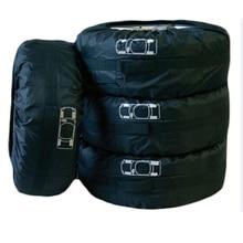 """Apto Para 13 """"-19"""" pneu 4 Pcs Auto Car Veículos Pneu Sobressalente Roda Pneu Capa Bag Protector Com Alças de Transporte Sacola de Armazenamento De Carro"""