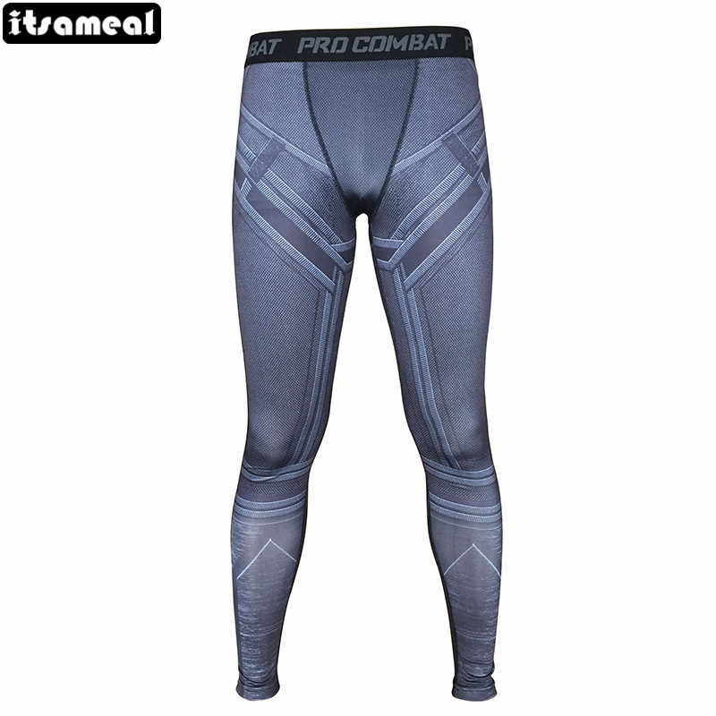 3D Printed balck panther Compression Tights Pants Men Fitness Skinny Leggings Trousers Male Clothes