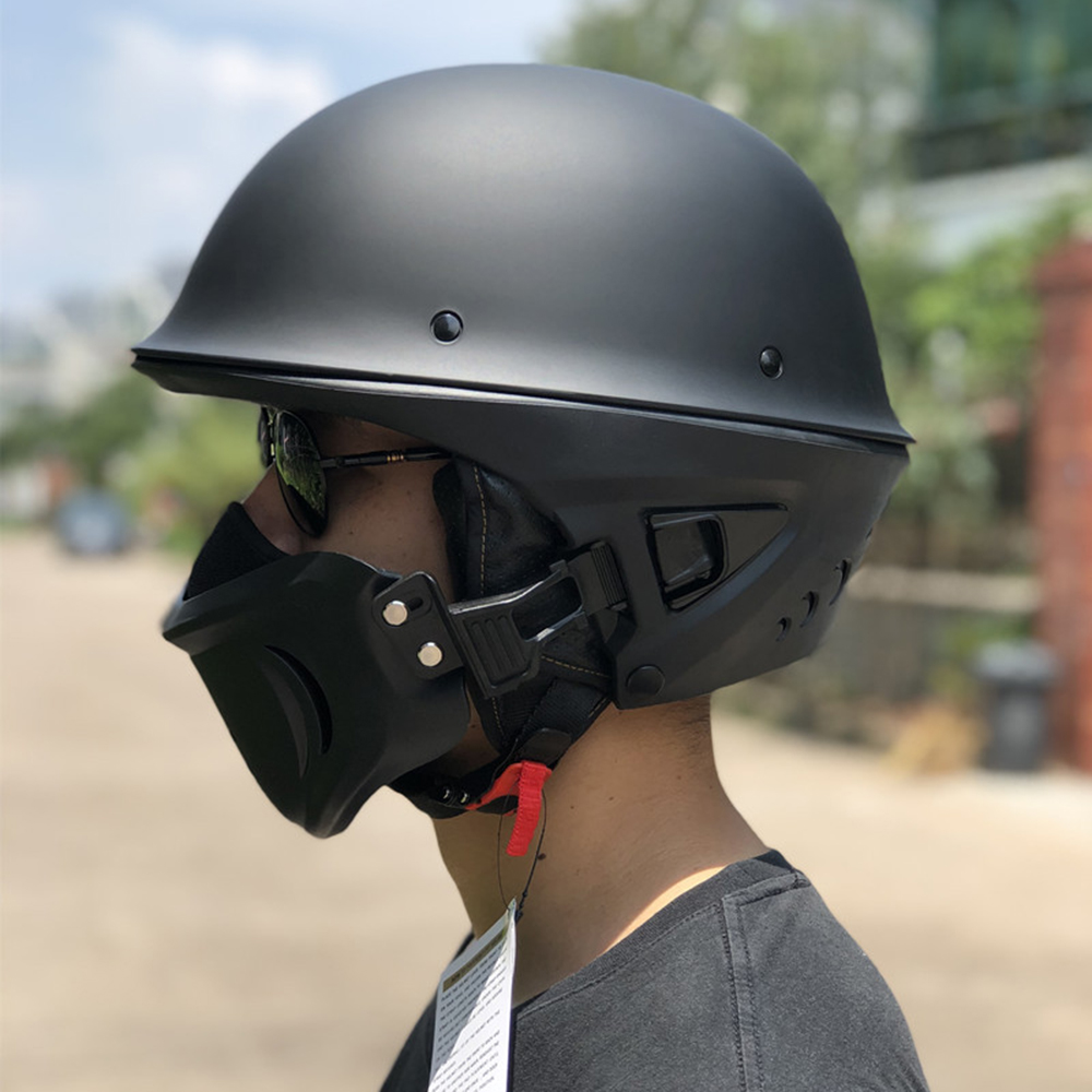 ゾンビレースハーフサイズリムーバブル銃口 moto rcycle ヘルメット capacete パラ moto cicleta cascos パラ moto レース moto rcycle ヘルメット  グループ上の 自動車 &バイク からの ヘルメット の中 1