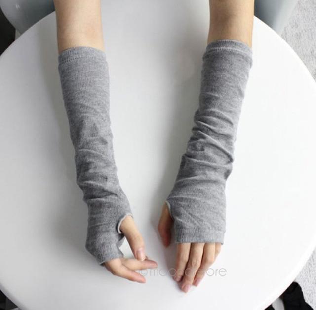 Hot 2018 Fashion Unisex Autumn/Winter Hand Arm Gloves Crochet Knit ...