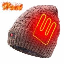 Шапка-бини для Для женщин Для мужчин 7,4 V батареи теплый нагретый эластичный мягкая шапка шапки зимние вязаные шапки Головные уборы