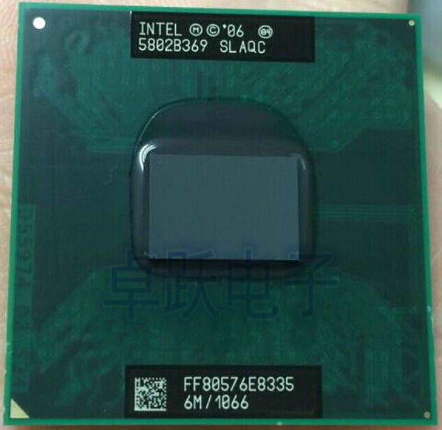 Intel Laptop CPU E8335 2.660G / 6M / 1066 SLAQC Official Version Scrattered Pieces Free Shipping