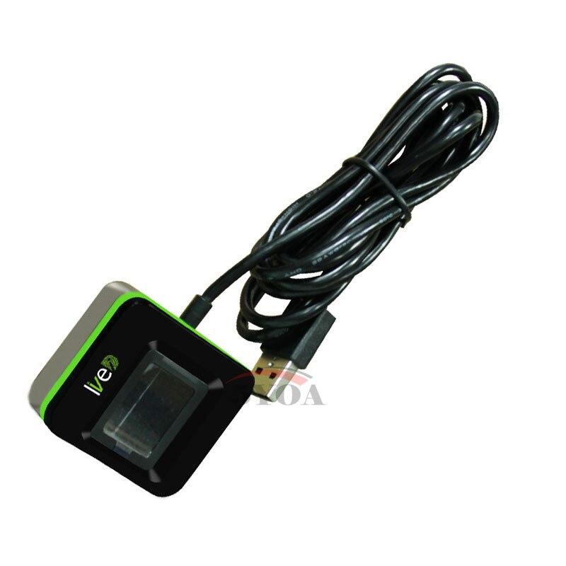 Lettore di impronte digitali lettore di impronte digitali USB scanner di impronte digitali ZK Live20R live ID USB sensore di impronte digitali In Diretta 20R-in Dispositivo di riconoscimento impronte digitali da Sicurezza e protezione su  Gruppo 1