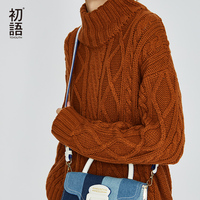 Toyouth Women's Jumper Turtleneck Sweater Female Jumper Women Long Sleeve Warm Sweater thick Winter Knitted Oversized Sweater