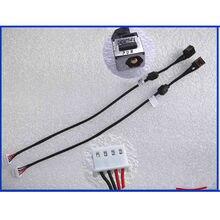 Novo portátil para toshiba l650 l655 l650d l655d l750 l755 l705 dc jack cabo de alimentação dc conector de carregamento cabo de fio do porto