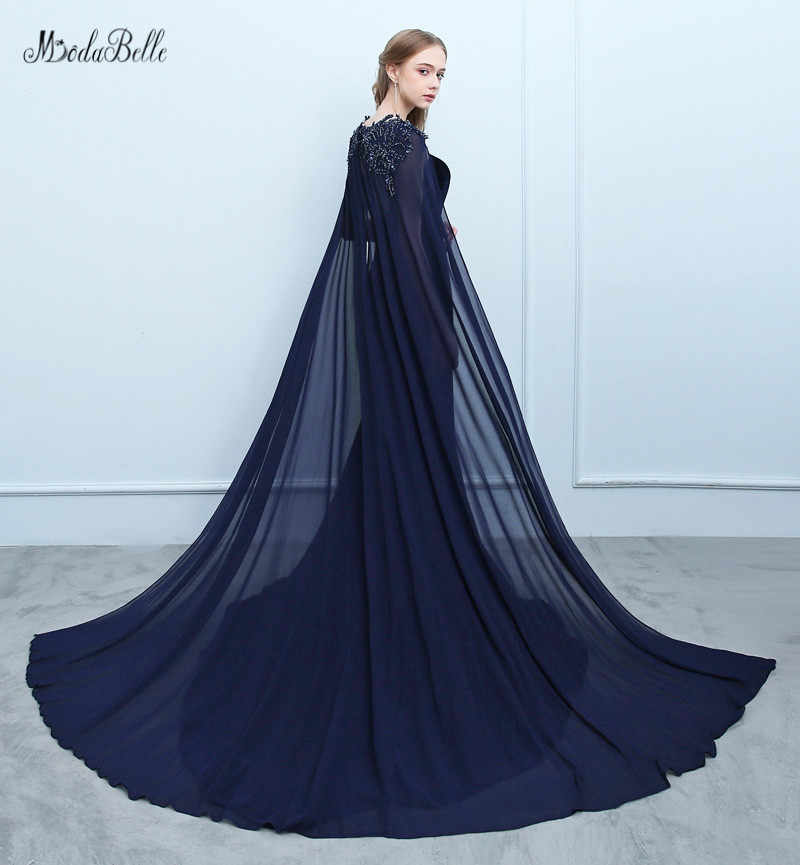 ... modabelle Beading Sequins Navy Blue Evening Dresses With Cape Avond  Jurk Plus Size Formal Dresses Robe ... ea250f4bc33c