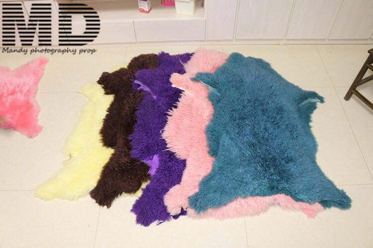цены Sheep rug skin,full size woolen blanket props for photo,newborn blanket felt props,newborn props woolen felt sheep skin rug