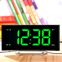 Electronic Radio Alarm Clock Curved Screen Led Light Alarm Clock Home Decor Desktop Digital Snooze Clock