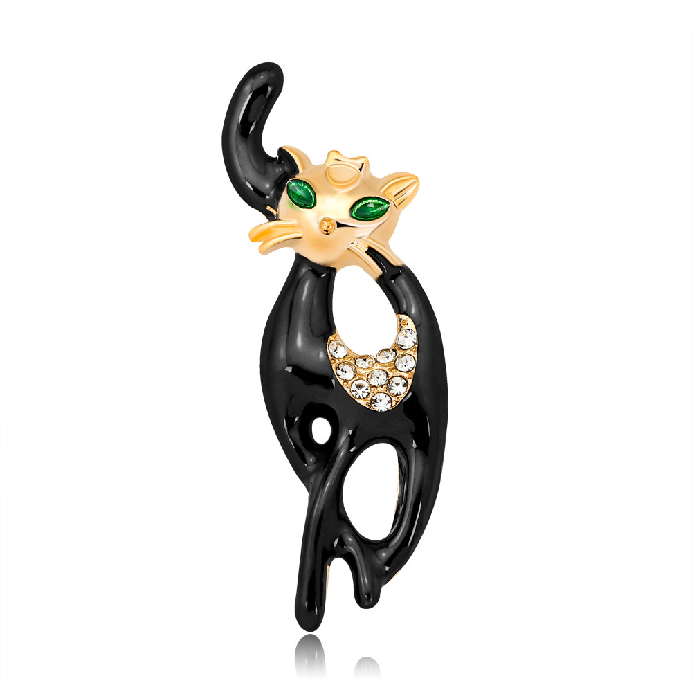 Lively Pride Cat Brooch para Party Shell Metal Crown Blue Crystal - Bisutería - foto 5