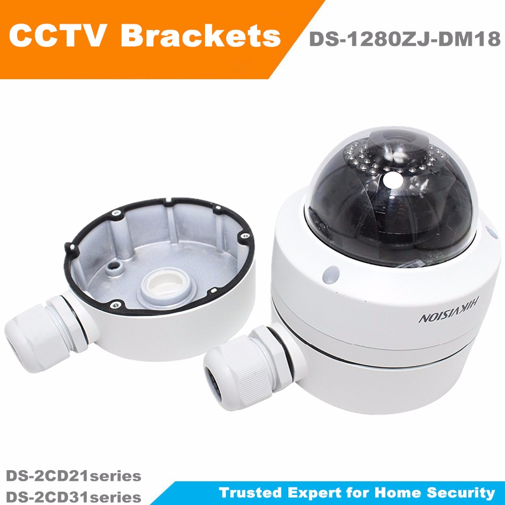 цена на In Stock Original HIKVISION CCTV Bracket Junction Box DS-1280ZJ-DM18 Indoor Celling Mount for DS-2CD21series and DS-2CD31series