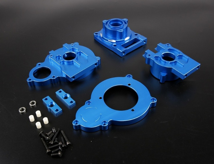 CNC alloy metal gear middle Differential case for 1/5 losi 5ive-T rc car parts area rc rear alloy differential housing for losi 5ive t