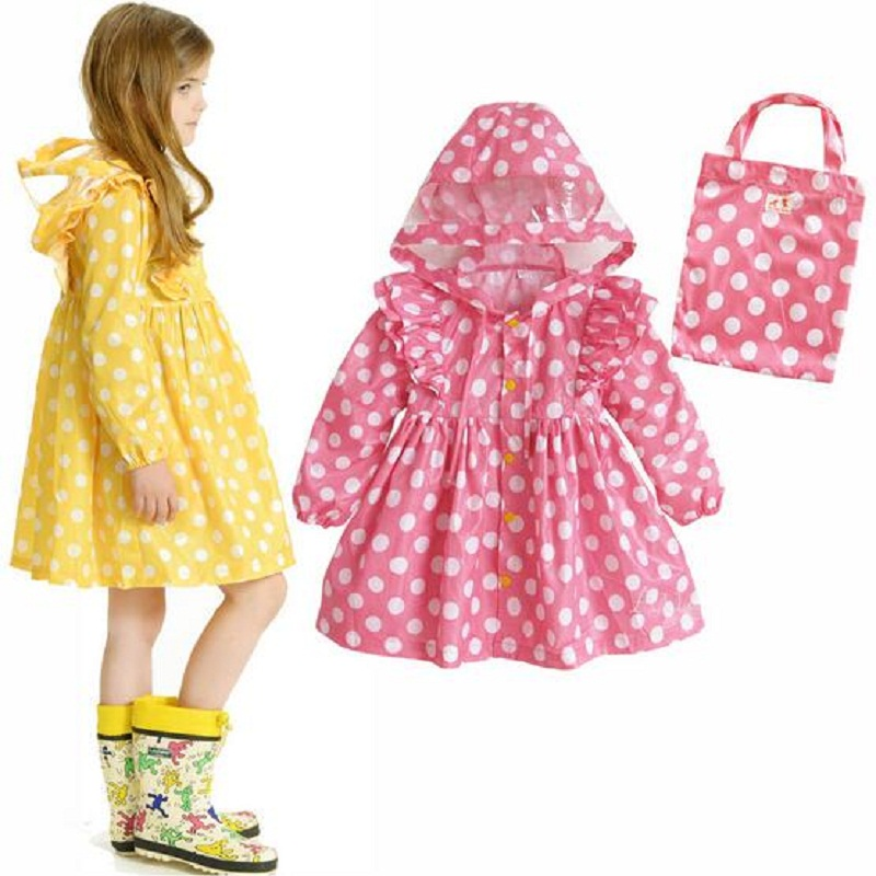 WINSTBROK Children Raincoat 2017 Impermeable Real Girls Rainwear Vandring Raincoat Child Fashion Rain Coat baby Rainsuit