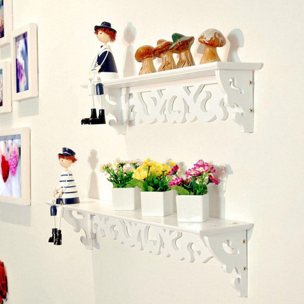 1pc Lot White Wall Hanging Shelf Goods Convenient Rack Storage Holder Home Bedroom Decoration Ledge