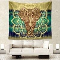 Hippie bohemio de Tela Para Colgar De La Pared Del Árbol de Elefante Indio Mandala Tapiz Imagen Impresa Mandalas De Playa Decoración Del Hogar
