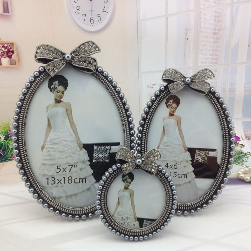 Aliexpress com : Buy Europe style Frame on Table Home Decoation Photo  Picture Frames 5x7 4x6 3x3 Round Oval Frame Set for Baby from Reliable  Frame