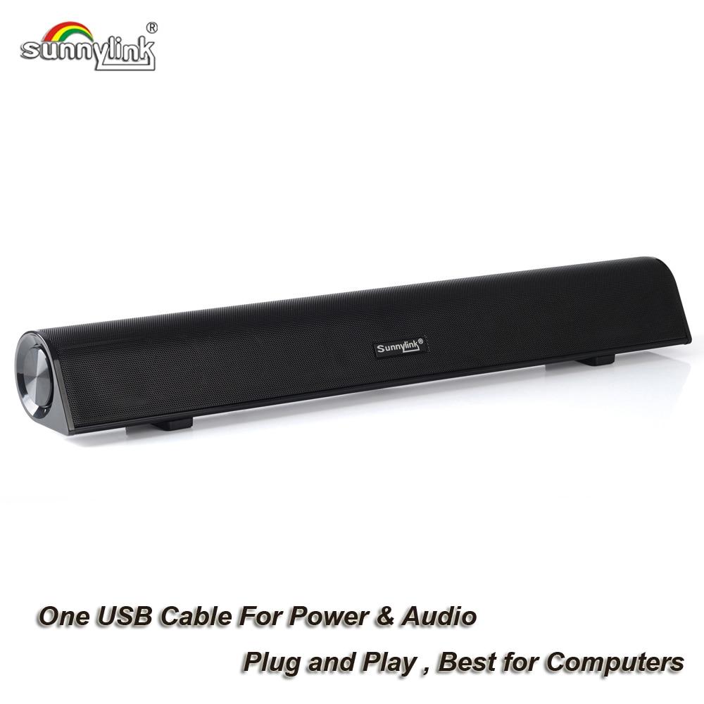 컴퓨터 서브 우퍼 사운드 바 스피커 컴퓨터 용 USB 오디오 사운드 바 스피커 컴퓨터 용 USB 전원 스피커 10Watts