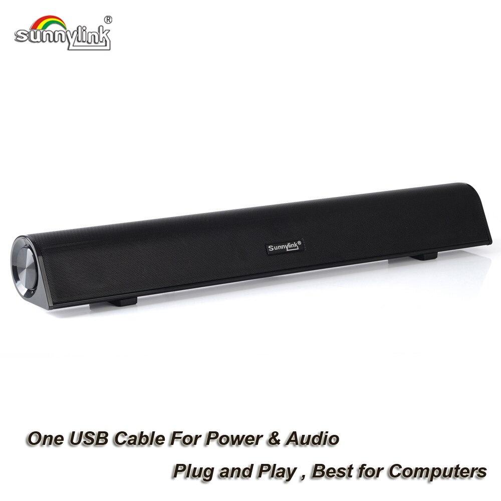 Ordinateur Subwoofer Soundbar Haut-Parleur USB audio barre de son haut-parleur pour ordinateur Ordinateurs Portables 10 Watts USB alimenté haut-parleurs pour ordinateur
