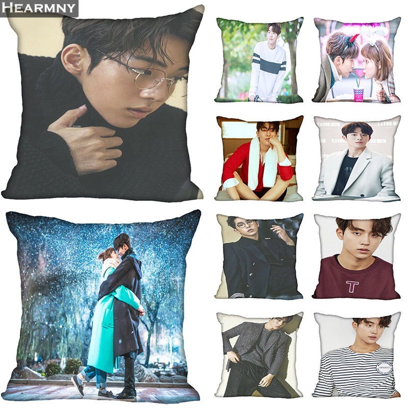 New Arrival Nam Joo Hyuk Pillow Cover Bedroom Home Office Decorative Pillowcase Square Zipper Pillow Cases Satin Soft No Fade