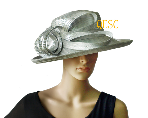 6d660afbbde NEW Metallic Silver All Year Around Kentucky Derby Hat Formal Dress Hat  Wedding Hat with Rhinestones Band.FREE SHIPPING.-in Fedoras from Apparel  Accessories ...