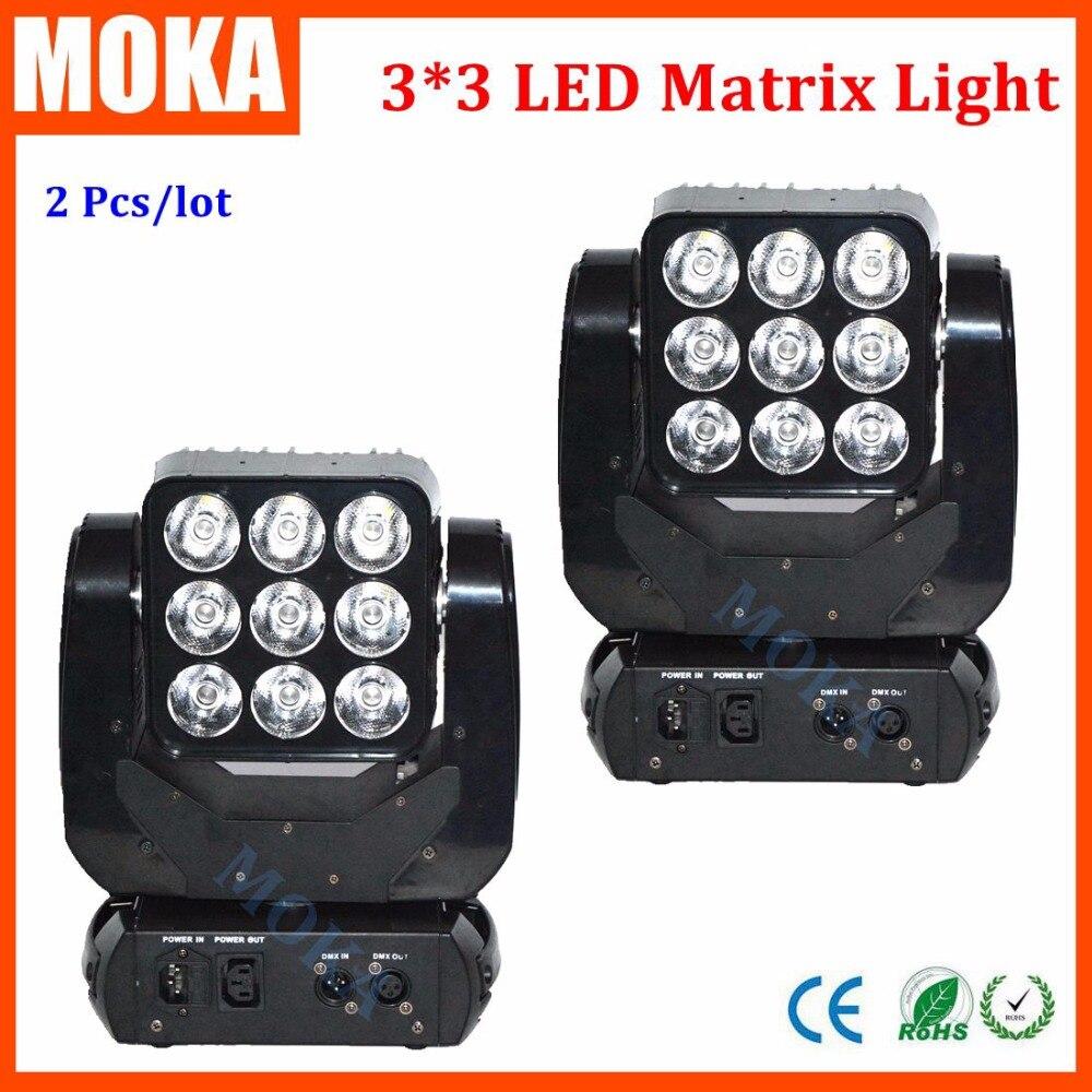 New RGBW 4in1LED Stage Light DMX Control 90w 3x3 Matrix Light LED Matrix Moving Head Light