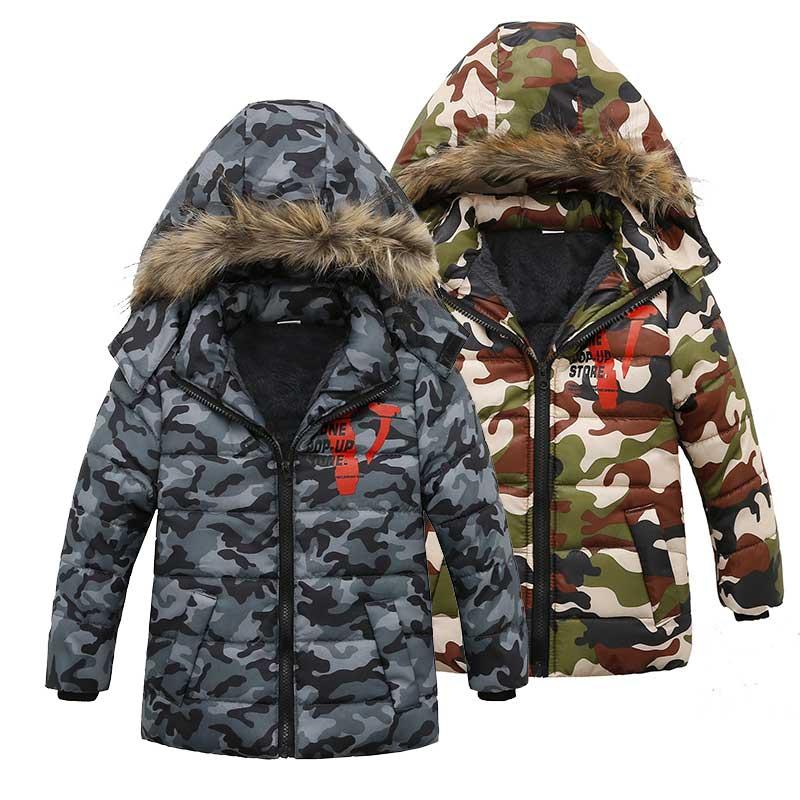 2-5T 2018 Children Jackets Boys/Girls Jacket Kids Down Coat Hoodies Windbreakers Camo Print Boys Sport Jackets for Winter men letter print camo jacket