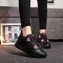 2015 Retail and wholesales high quality women's casual shoes breathable flat shoes with chausure homme air cushion sole