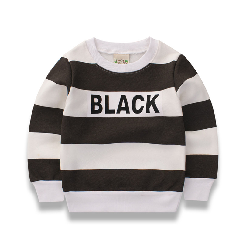 2017 Kids T-shirt Baby Girls Long Sleeve o-neck Clothing Spring Casual Striped T-shirt Hoodies Costumes For Baby Boys Clothes
