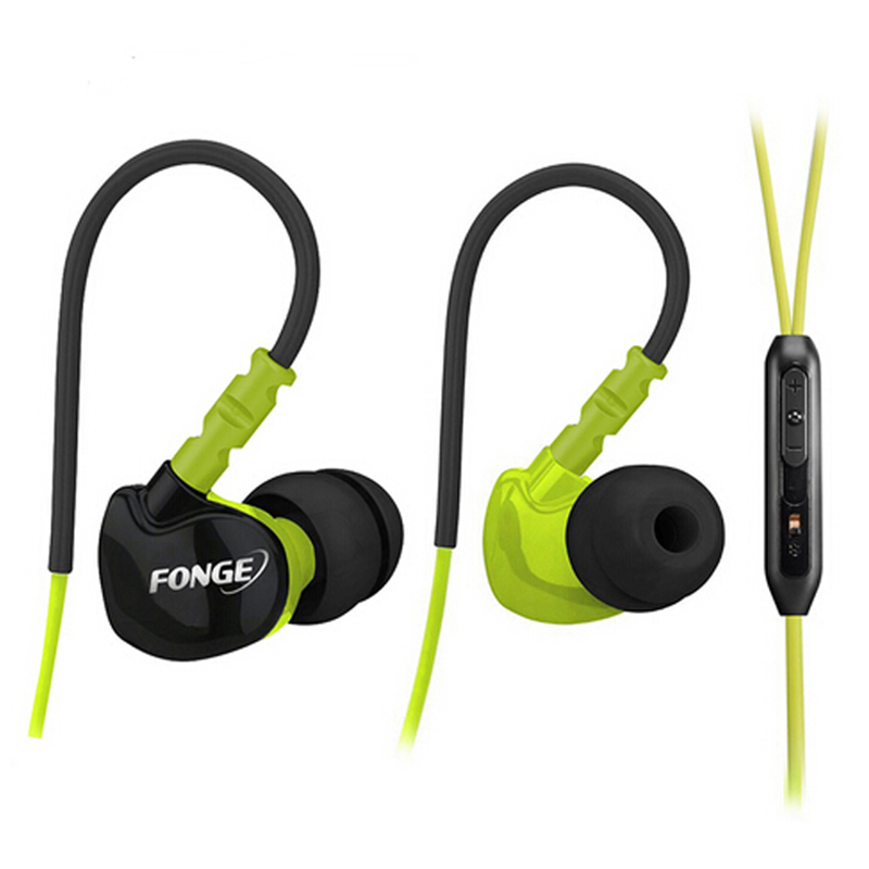 Fonge S500 Stereo Sports Earphones Super Bass Earphones Waterproof Headset IPX5 Handsfree HiFi Headset With Microphone
