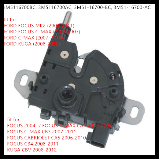 Us 17 1 10 Off Free Shipping For Ford Focus Mk2 2004 2011 C Max 2003 2010 Kuga 2008 2012 Bonnet Hood Lock Catch 3m5116700bc 3m5116700ac In Engine