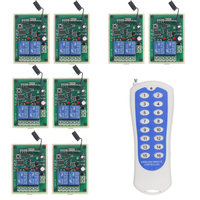 DC 12V 24V 2 CH 2CH Relay Switch Multiple Connection RF Wireless Remote Switch Smart Receiver 16CH Transmitter
