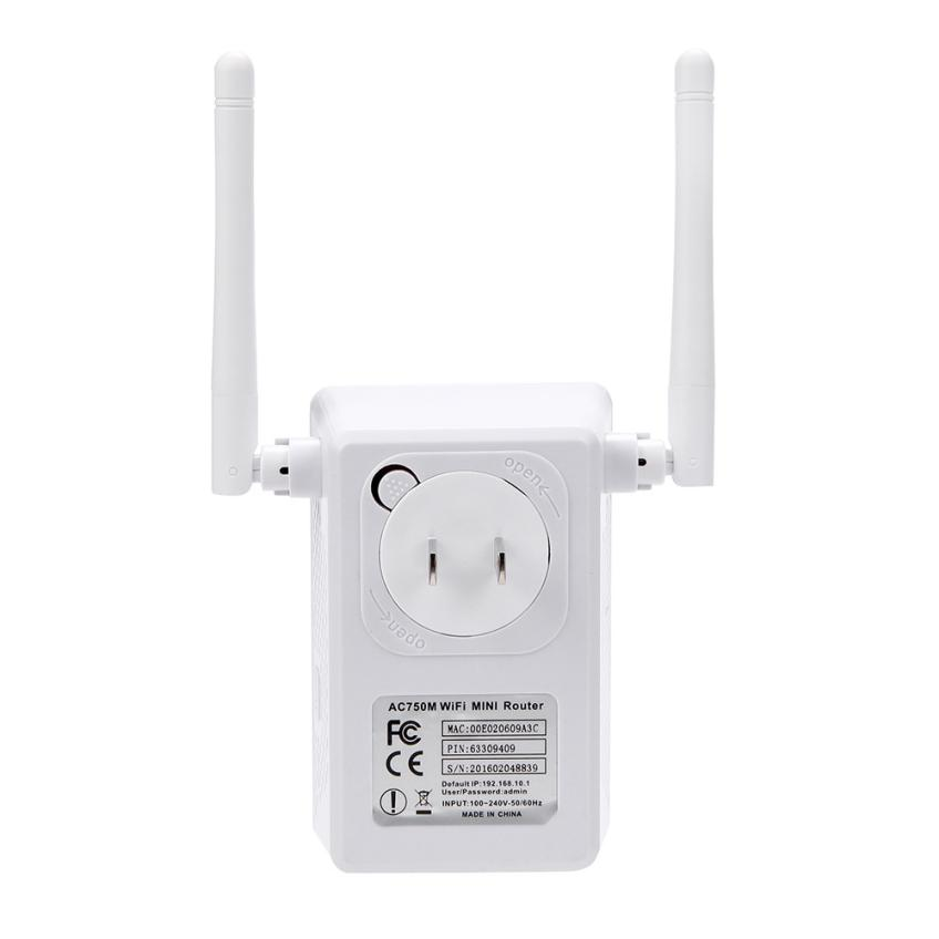 Good Sale US Wireless AC02 Wifi 750Mbps Range Router Repeater Extender Booster New Apr 26