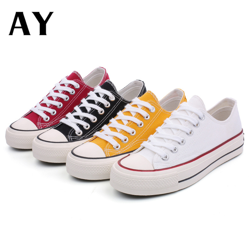 AY Vulcanized Shoes Women Canvas Sneakers Flat Denim Casual Shoes Women Trainers Stars Ladies Sneakers Rubber Sole