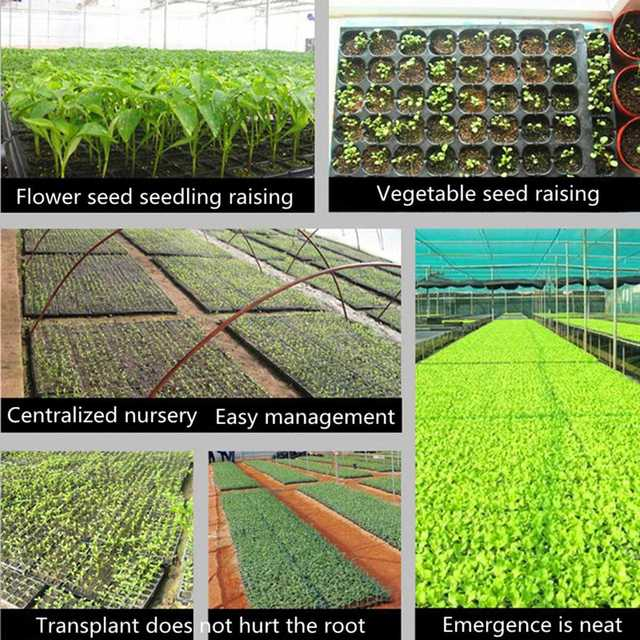 10Pcs/Pack 32 Cells Seedling Starter Nursery Pots Trays Seed Germination Garden Plants Propagation Garden Vegetables Farm Tools