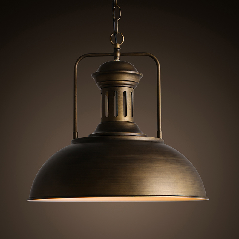ФОТО Nordic Loft2 Restaurant Bar Droplight Iron Single Head Pot Droplight American Country Industry Ancient Style Pendant Lamp P3728