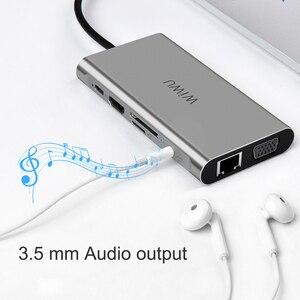 Image 4 - WIWU 10 ב 1 USB Hub עבור MacBook USB C כדי HDMI/VGA/RJ45 Thunderbolt 3 מתאם עבור dell/סמסונג/Huawei P20 פרו סוג c USB 3.0 רכזת