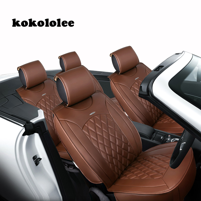 KOKOLOLEE Special pu Leather car seat cover For Ford mondeo Focus Fiesta Edge Explorer Taurus S-MAX auto accessories car-styling special car trunk mats for toyota all models corolla camry rav4 auris prius yalis avensis 2014 accessories car styling auto