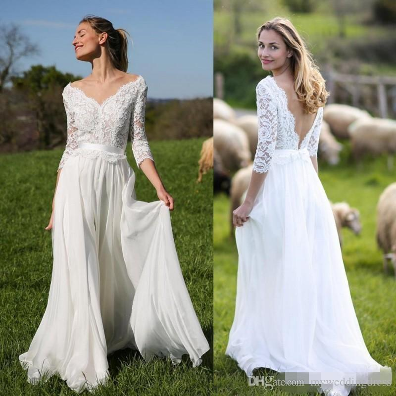 Outdoor wedding dresses plus size
