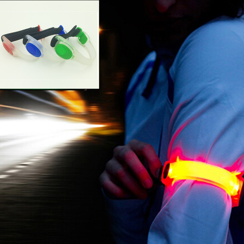 Led Silicone Emergency Lamp 2 Modes Leg Arm Running Cycling Outdoor Waterproof Safety Wrist Strap Warm Light Flashing Night Lamp