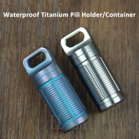 High Quality Waterproof Titanium Pill Holder Container Outdoor Camp Emergency Medicine Bottle Capsule Case Box 2