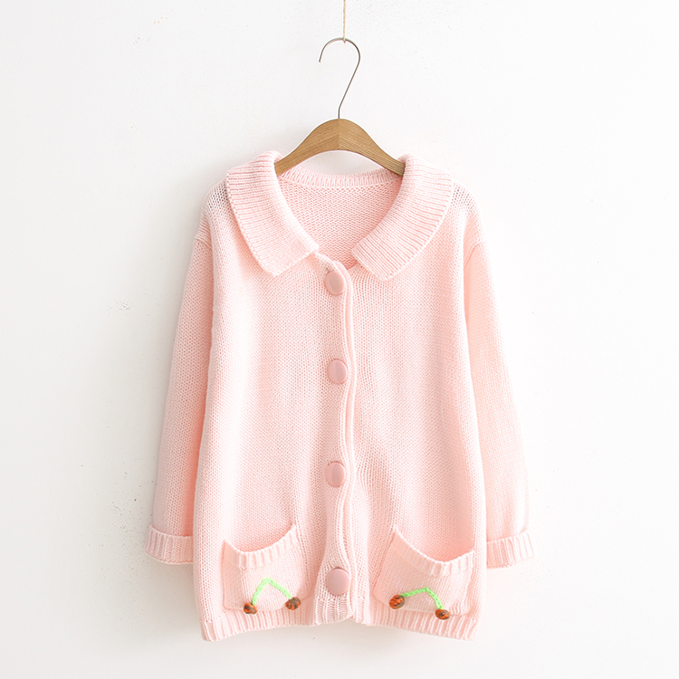 2017 New Baby Pink Cardigans Standard Women's Sweaters Strawberry ...
