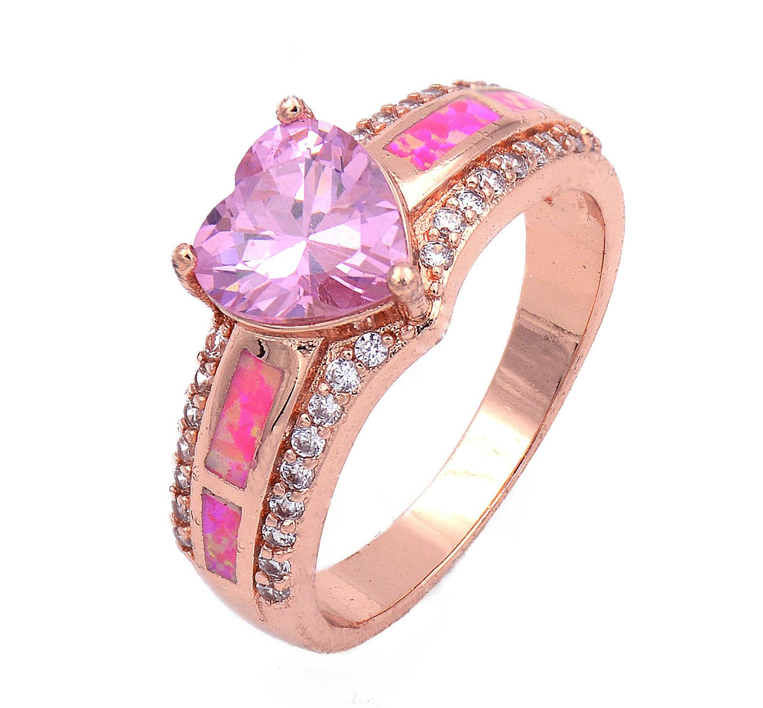 Elegant Opal Stone Wedding Rings | Wedding