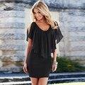New Arrival 1PC Summer Women Tunic Short Sleeve Chiffon Mini Dress Free Shipping Whloesale 41
