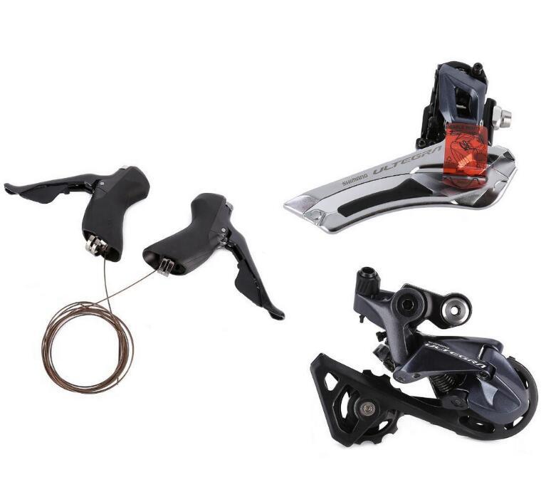 Shimano ultegra r8000 22 velocidade gatilho shifter + desviador dianteiro + traseira desviador ss groupset atualização de 6800