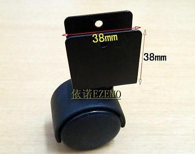 4x 1 57 Iron Swivel Splint Casters Wheel Bearing Black
