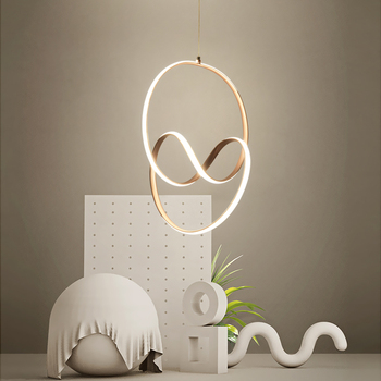 الحديثة قلادة Led أضواء لغرفة النوم غرفة الطعام المطبخ الشمبانيا حلية ذهبية مصباح الألومنيوم شنقا مصباح الشمال مصباح
