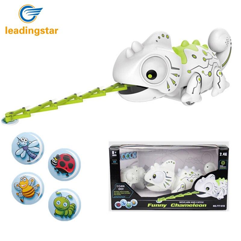LeadingStar Fernbedienung Chameleon 2,4 GHz Haustier Intelligente Spielzeug Roboter Für Kinder Kinder Geburtstag Geschenk Lustige Spielzeug RC Tiere